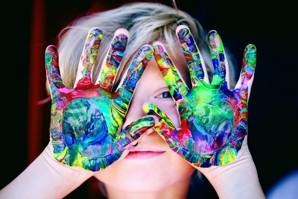 Пальчиковые краски для детей 5 месяцев